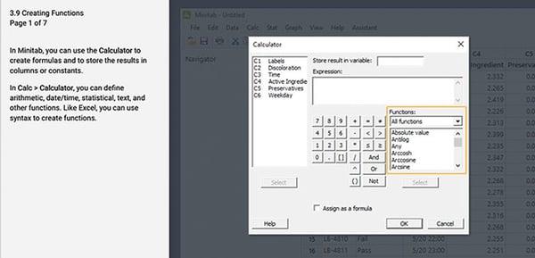 Use the calculator at Calc > Calculator in Minitab Statistical Software