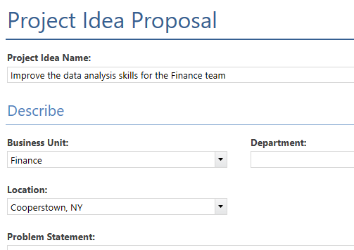 Minitab Engage Project Idea Proposal for Steerco