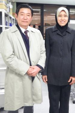 Me and Shin Taguchi at Meiji Univ. Lab