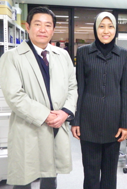 Me and Shin Taguchi at Meiji Univ. Lab