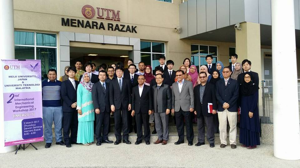 At UTM Menara Razak with UTM Vice Chancellor Prof. Datuk Ir. Dr. Wahid Omar in UTM-Meiji University Mechanical Engineeering Confere