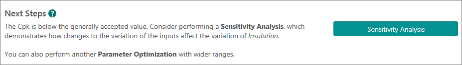 Recommended next step: Sensitivity analysis
