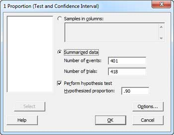 1 Proportion Hypothesis Test