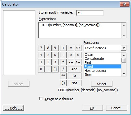 """simplifying numeric data with the """"fixed"""" function"""