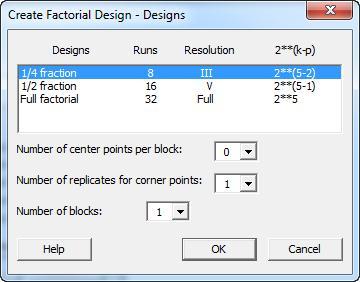 Create Factorial Design