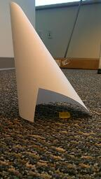 Paper cone protecting gummi bear during MSA study.