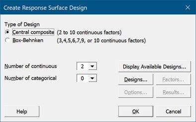 create-response-surface-design