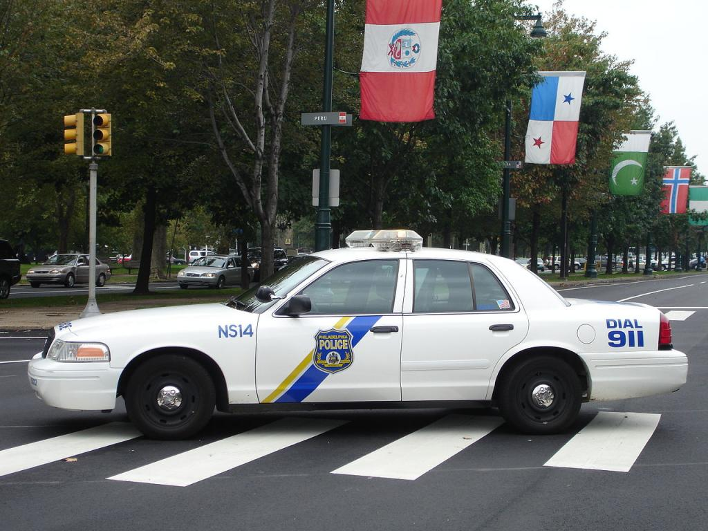 A Philadelphia Police Department car