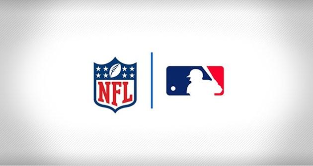 NFL and MLB Logos