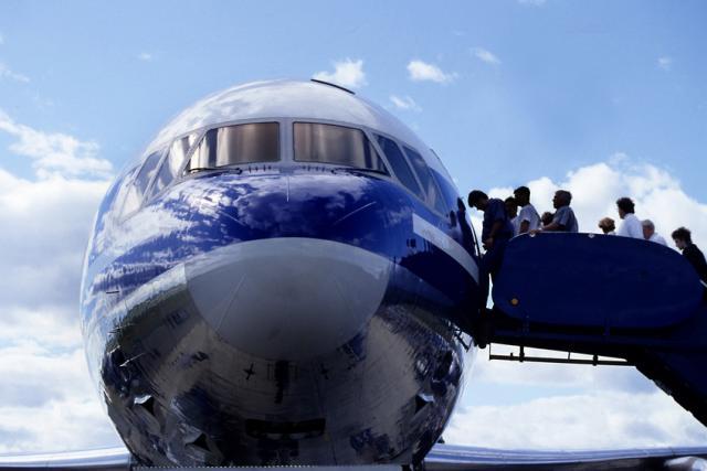 boarding plane