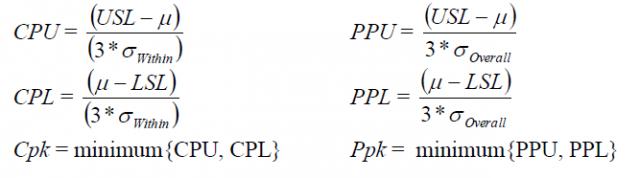 Process Capability Statistics: Cpk vs  Ppk