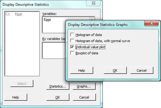 descriptive statistics dialog