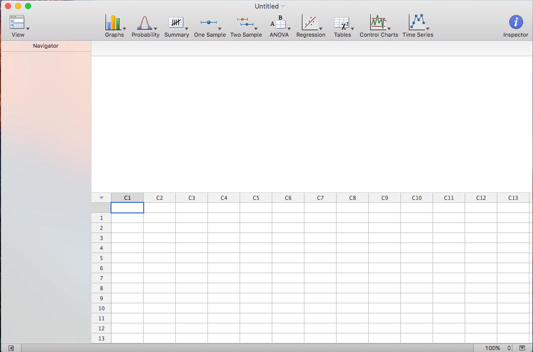 Minitab Express for OS X Interface