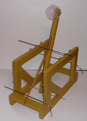Finished DIY Catapult for doing DOE (Design of Experiments)