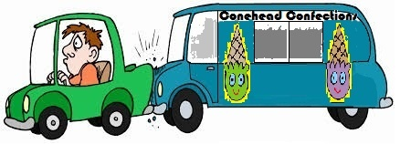 collision cause by ice cream truck