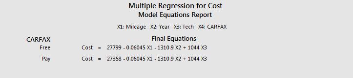 regression equations