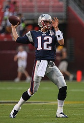 Tom Brady -- Keith Allison. Used under Creative Commons Attribution-ShareAlike 2.0