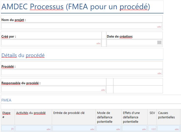AMDEC FMEA